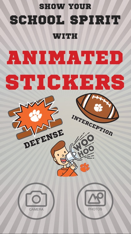 Clemson Tigers Animated Selfie Stickers