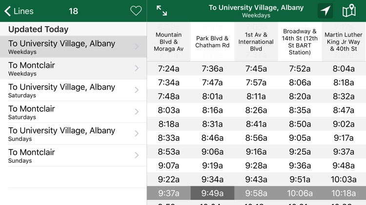 Schedules - AC Transit screenshot-4