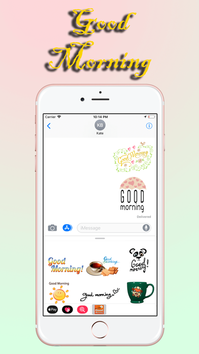 Good Morning Stickers Pack screenshot four