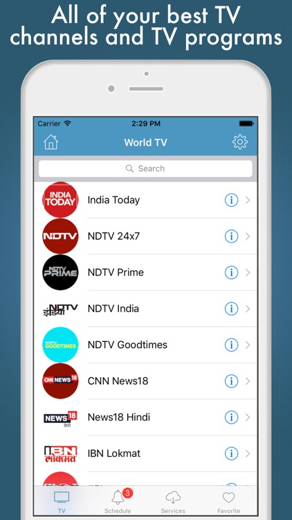 World TV - worldwide live TV by SERHII TESLENKO