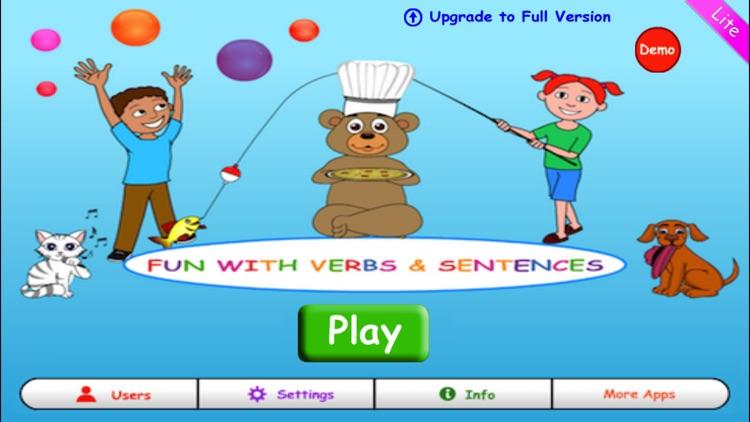 Fun with Verbs & Sentences LT screenshot-0