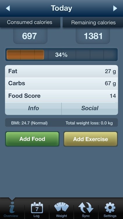 Tap & Track Calorie Counter screenshot-0