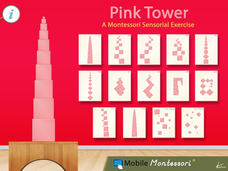 Image result for montessori pink tower