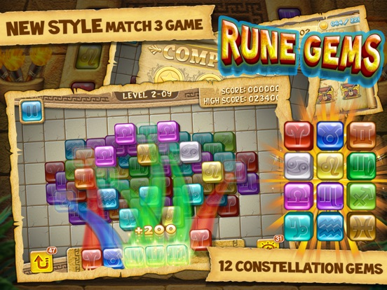 Rune Gems - Block n Tile Crush на iPad