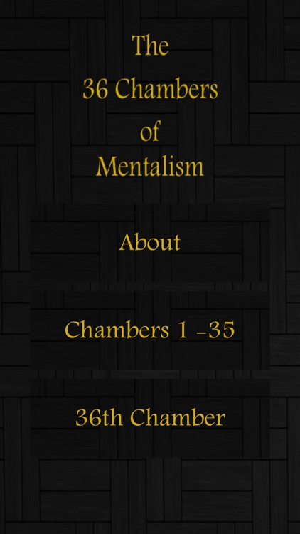 The 36 Chambers of Mentalism
