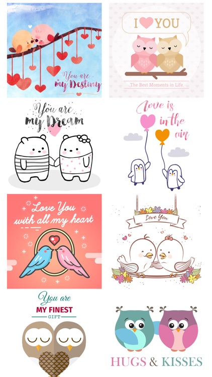 Love Quotes with Lovely & Cute Animal Couple Pack screenshot-3