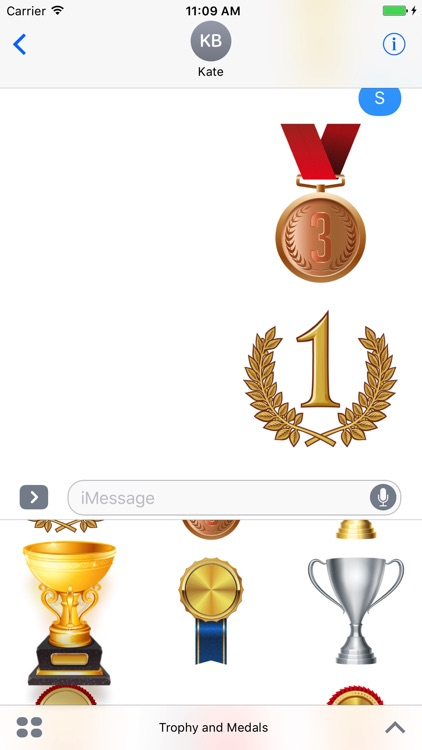 Trophy and Medals for iMessage