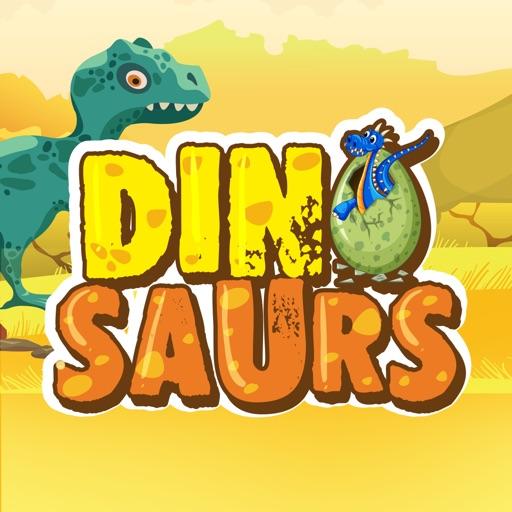 Dinosaur & Text Sticker Emojis
