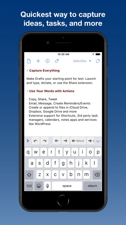 Drafts 5: Capture ‣‣ Act