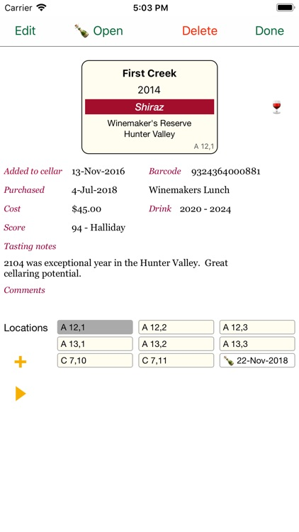 Personal Wine Cellar Database screenshot-5