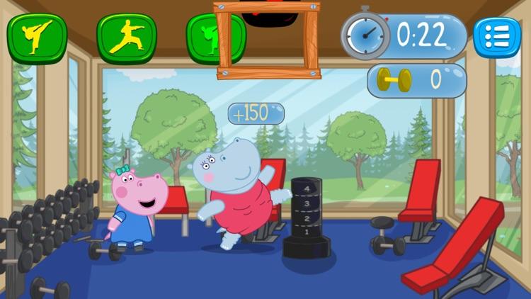 Fitness Games: Hippo Trainer screenshot-0