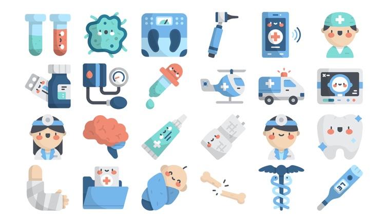 Hospital Stickers.