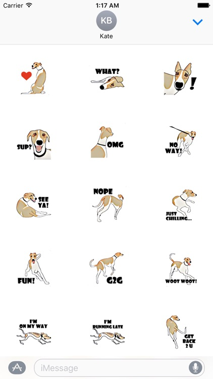 Whippet Dog - DogSport Sticker