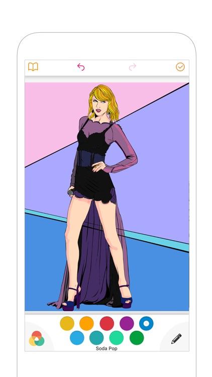 Fashion Coloring - BeautyColor screenshot-3