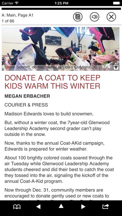 Courier & Press Print Edition Screenshot on iOS
