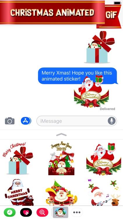 Happy Santa Animated Stickers