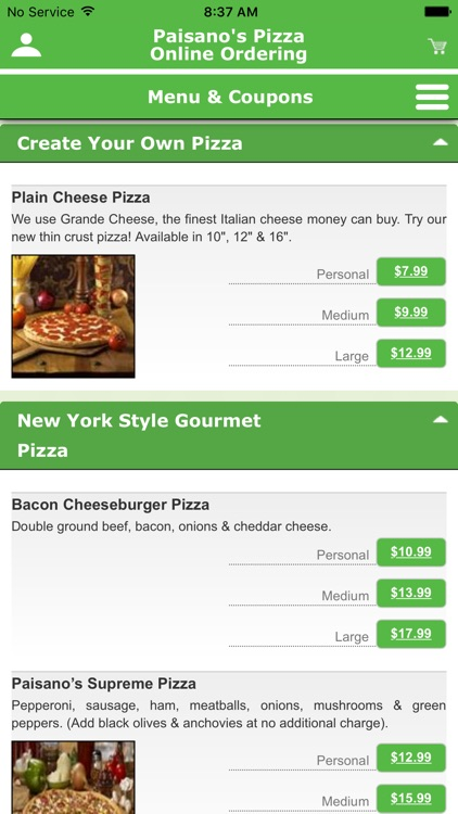 Paisano's Pizza screenshot-1