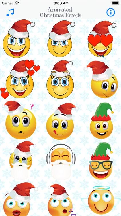 Animated Christmas Emojis by Danijel Cvetkovic