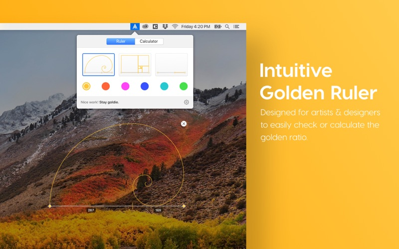Goldie App Screenshots