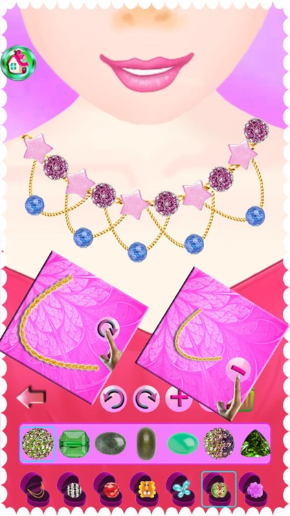 Princess Necklace,Ring And Gem