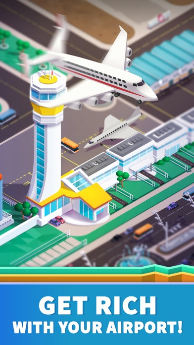 Idle Airport Tycoon - Planes Screenshot on iOS