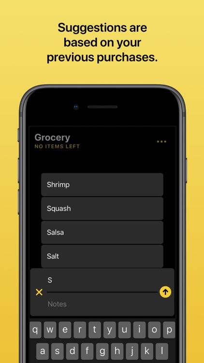 Grocery - Smart Grocery List screenshot-3