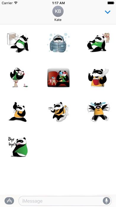 Funny Chubby Panda Sticker screenshot 3