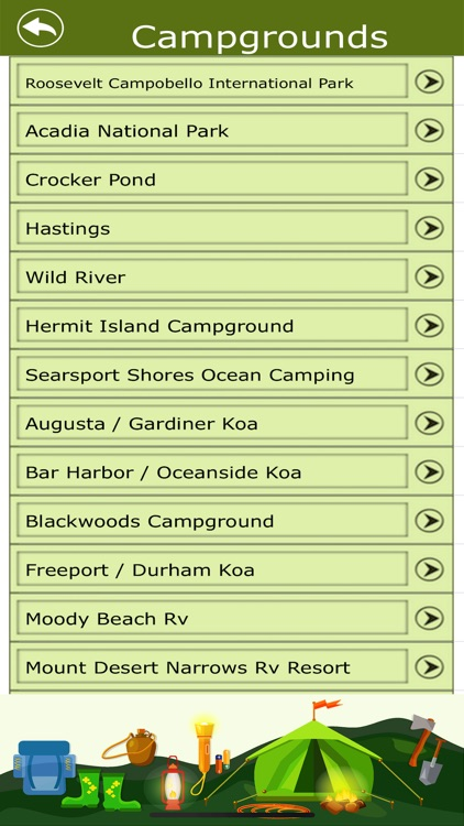 Maine Campgrounds & Hiking Tra