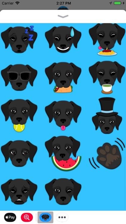 Black Labrador Emoji screenshot-4