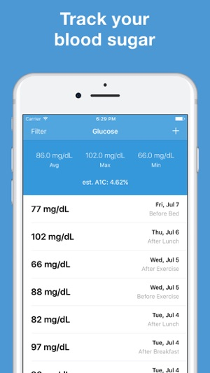 glucose blood sugar tracker on the app store