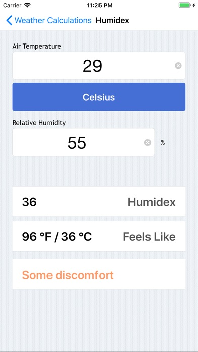 Weather Calculations review screenshots