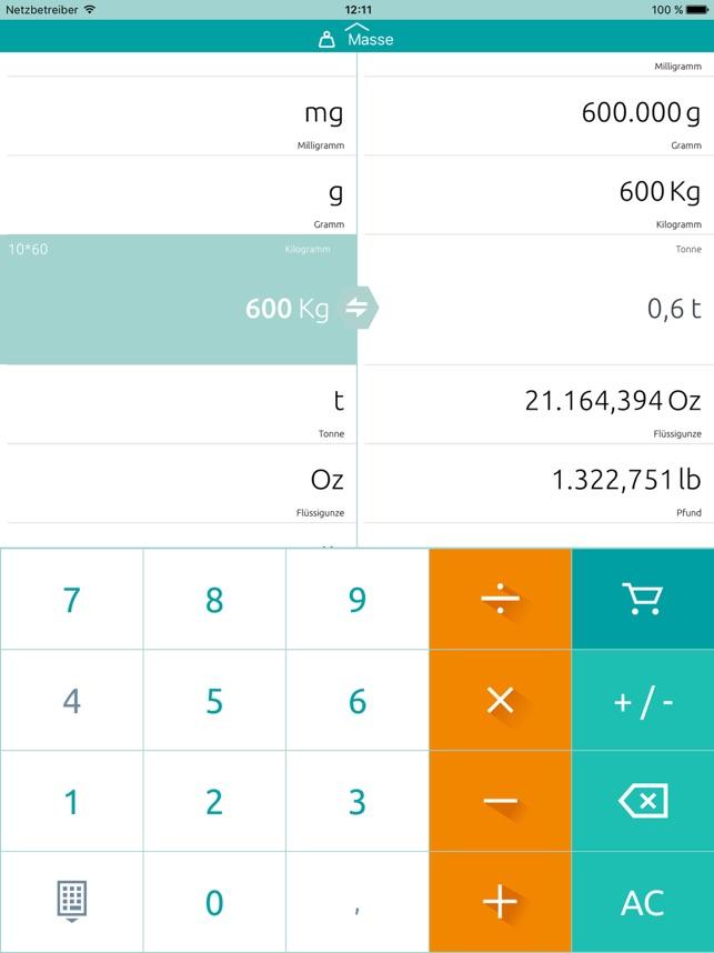 Einheitenumrechner Umrechner Im App Store