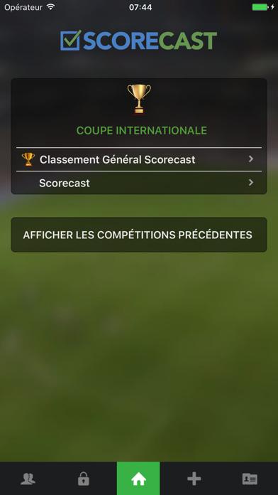 Scorecast sur pc