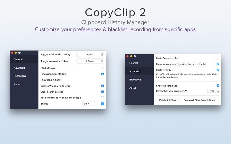 CopyClip 2 - Clipboard Manager Screenshots