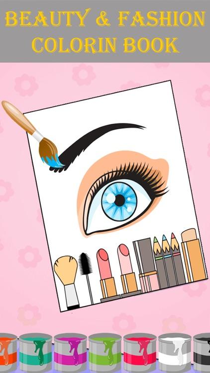 Beauty & Fashion Coloring Book screenshot-3