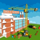 School Building construction icon
