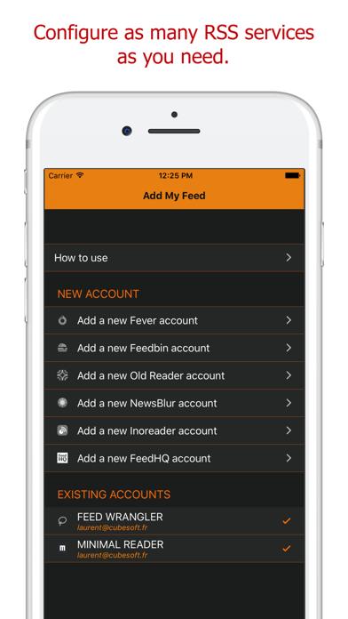 Add My Feed - RSS Ato... screenshot1