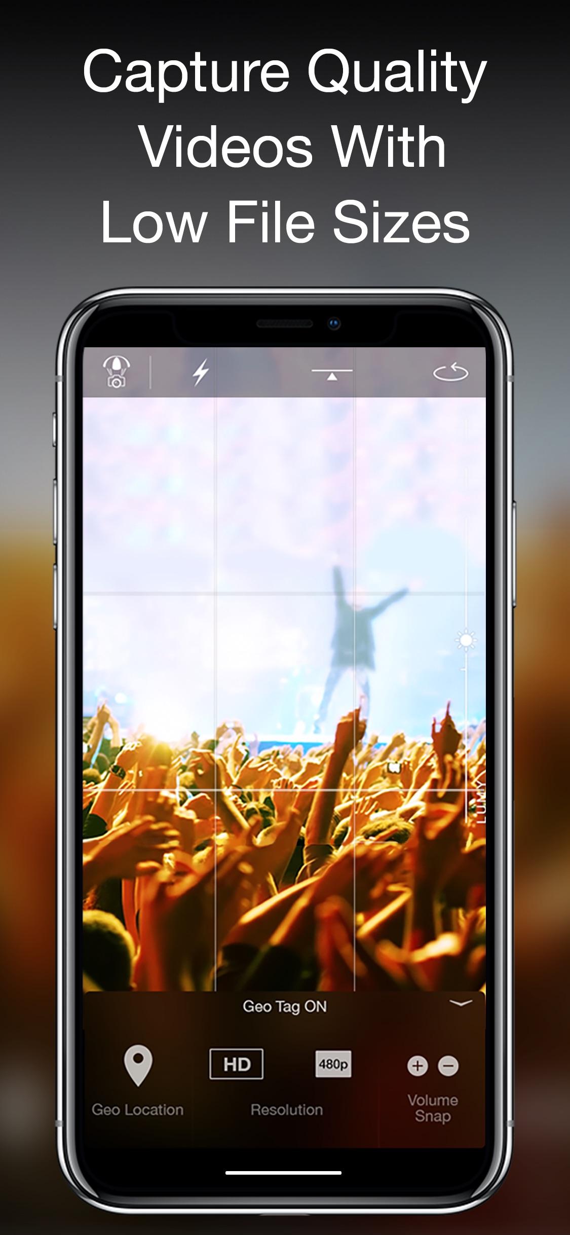 Screenshot do app Camera Plus: Frame The Moments