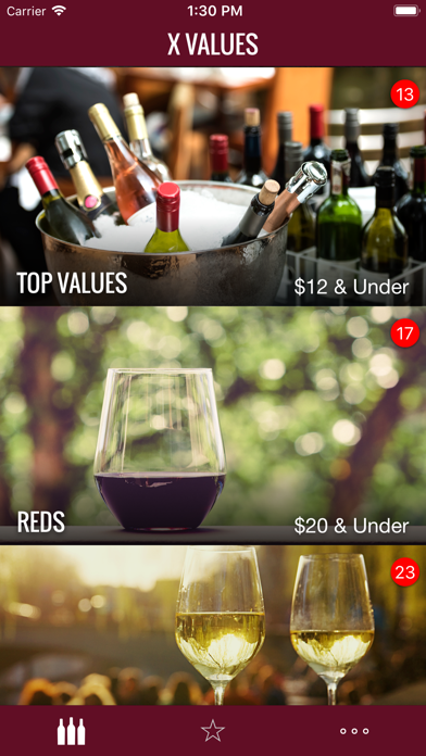 X VALUES by Wine Spectator Screenshot