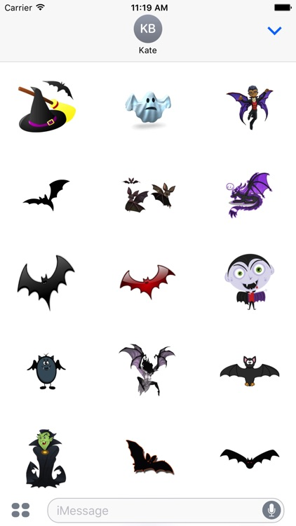 Halloween Sticker Bat