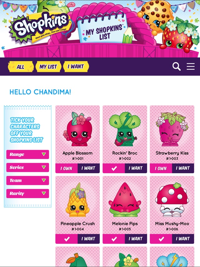 my shopkins list on the app store