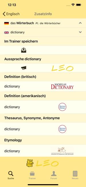 Leo Wörterbuch Im App Store