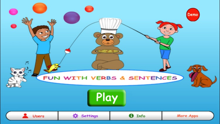 Fun with Verbs & Sentences screenshot-0