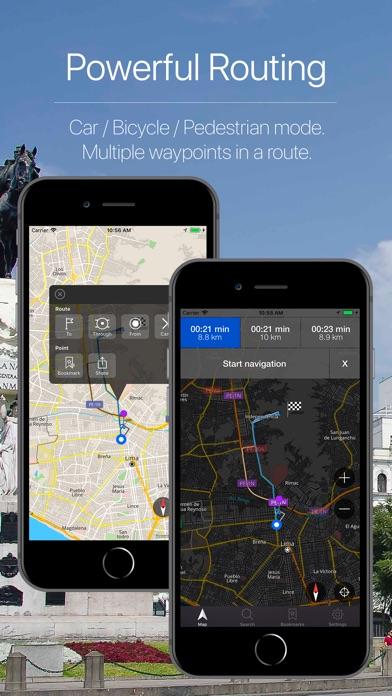 Peru Offline Navigation Screenshot