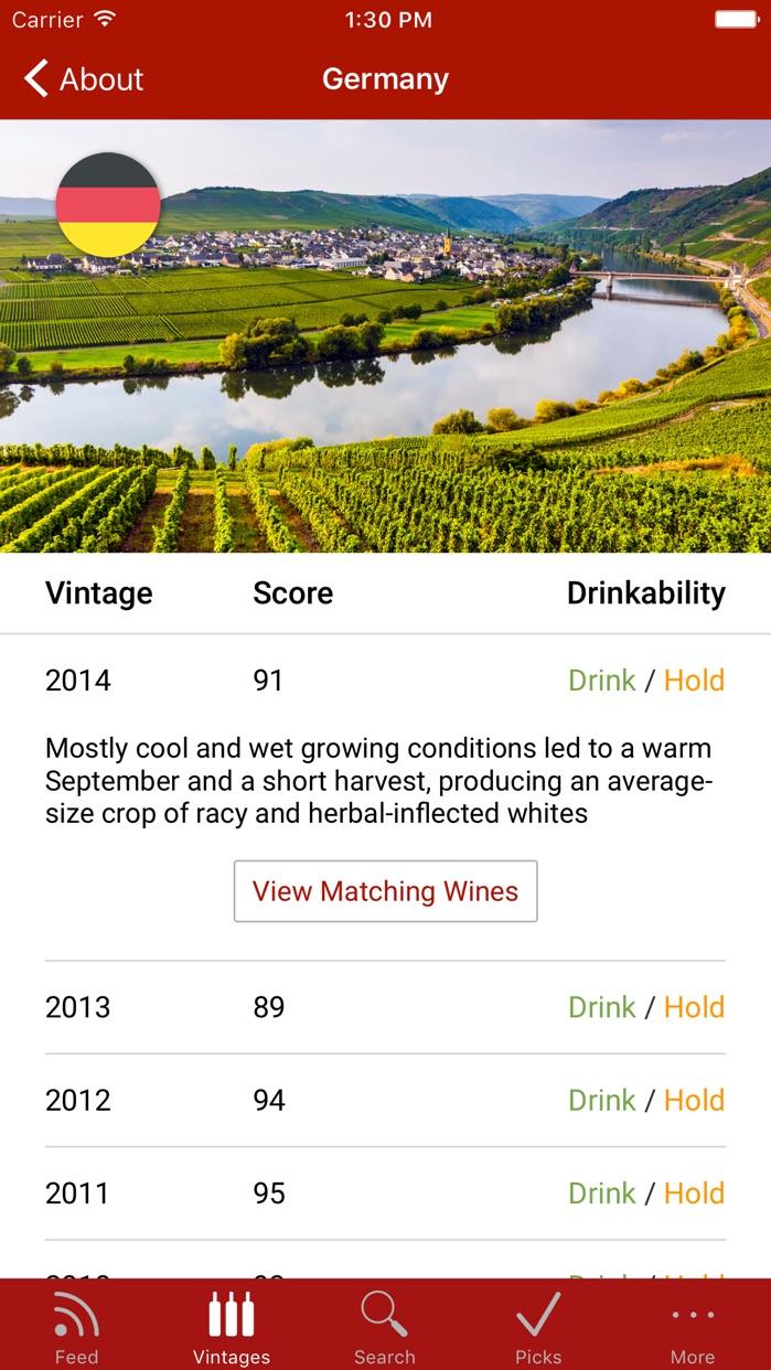 Wine Spectator WineRatings+ Screenshot