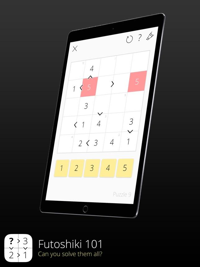 Futoshiki 101 on the App Store