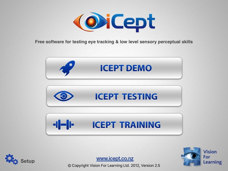 iCept Testing by Vision For Learning