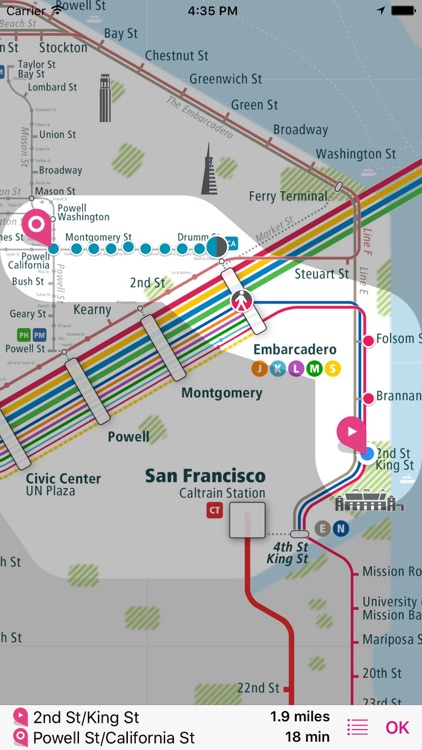 San Francisco Rail Map screenshot-2