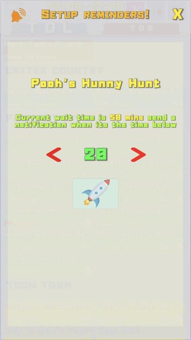TDR Wait, Fast Pass,Show times Screenshot on iOS