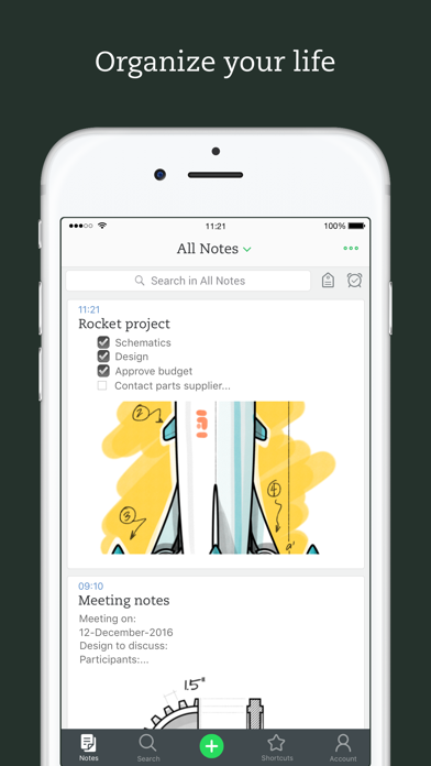 Screenshot 0 for Evernote's iPhone app'